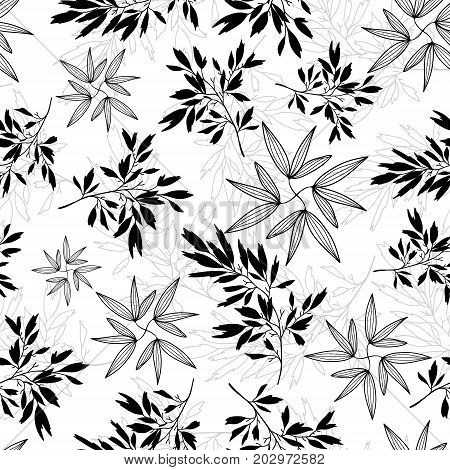 Vector teal tropical leaves summer seamless pattern with tropical green, blue plants and leaves on white background. Great for vacation themed fabric, wallpaper, packaging. Surface pattern