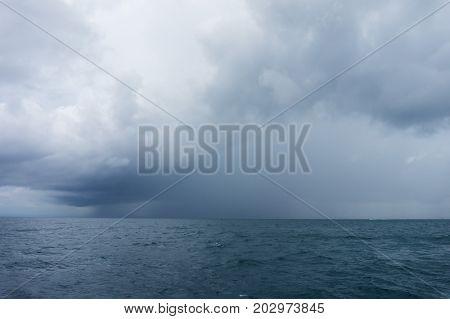 Andaman Sea storm dark scenery, Thailand.