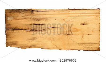 old wooden boards isolated on white background. old wooden boards isolated on a white background. Old Wood plank, isolated on white background
