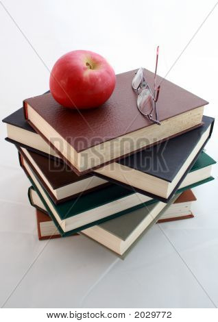 6 Books Glasses Apple