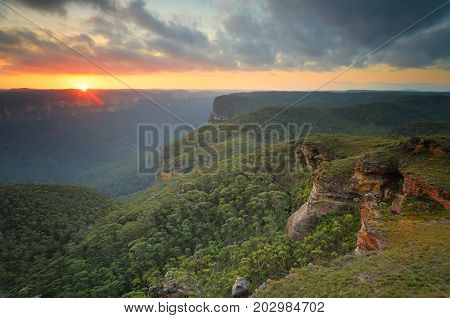 Sunset Blue Mountains Grose Valley
