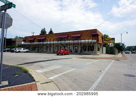 JOLIET, ILLINOIS / UNITED STATES - JULY 20, 2017: One may purchase cake, donuts, coffee, liquor and Żywiec beer at the Joliet Bakery.