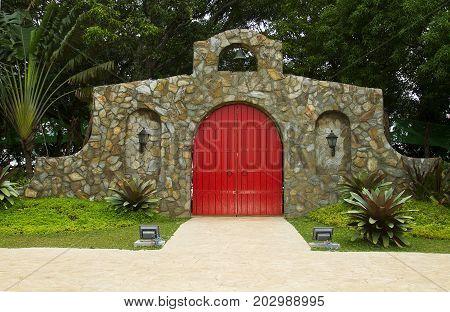 Red Main Door