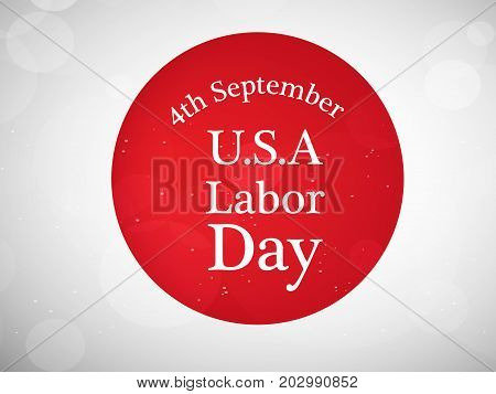 illustration of 4th September U.S.A. Labor Day text on the occasion of Labor Day