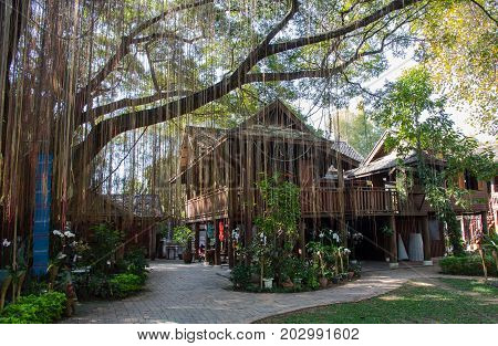 The Northern Thai Lanna style house and garden