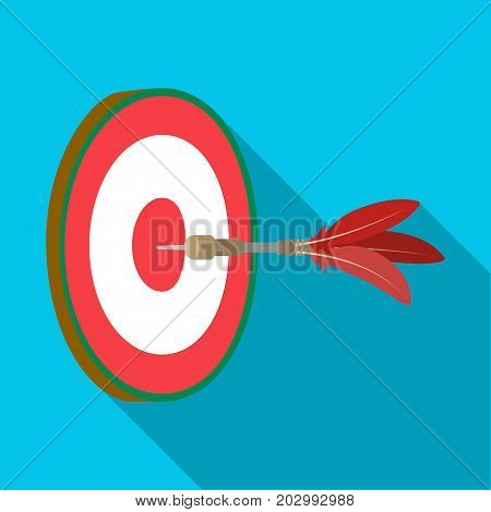 Dart and a target for darts. The game of darts single icon in flat style vector symbol stock illustration .