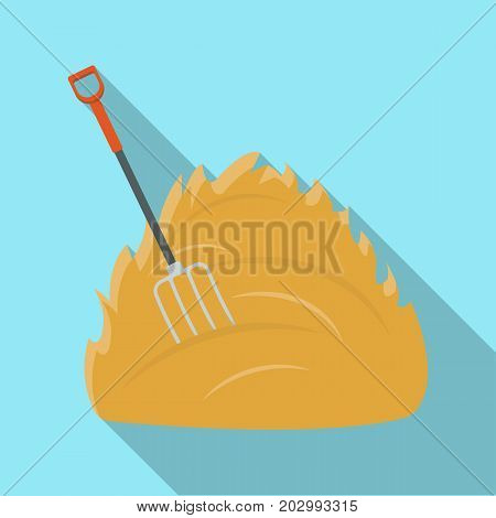Hay single icon in flat style .Hay vector symbol stock illustration .