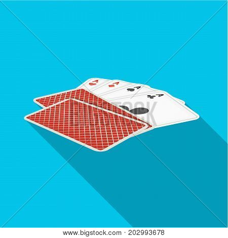 Game single icon in flat style.Game, vector symbol stock illustration .