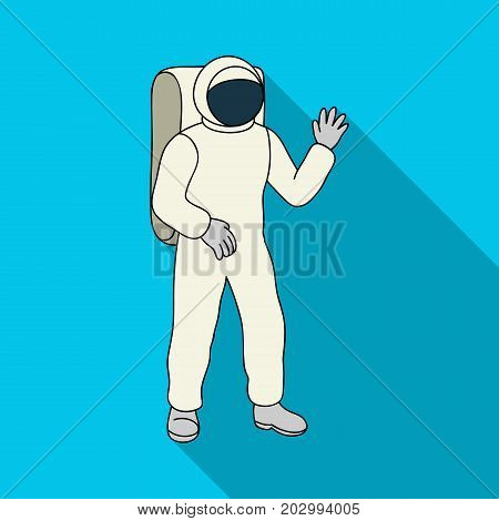 Cosmic space suit. Space technology single icon in flat style vector symbol stock illustration .