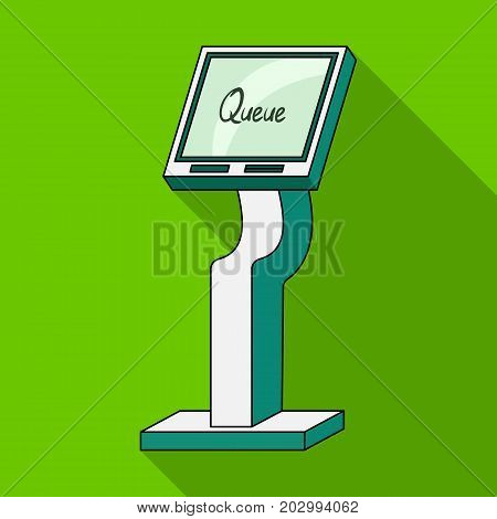 Queue, access terminal. Terminals single icon in flat style isometric vector symbol stock illustration .