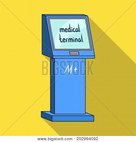 Medical terminal. Terminals single icon in flat style isometric vector symbol stock illustration .