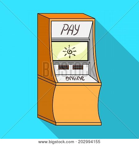 Terminal for various types of payment. Terminals single icon in flat style isometric vector symbol stock illustration .