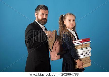 Classroom And Alternative Education Concept. Bearded Man