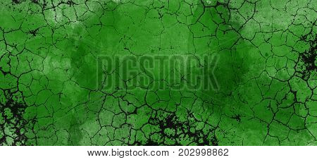Watercolor background. Cool Green Abstract colorful watercolor background