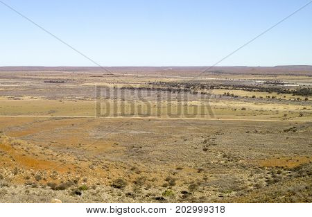 sandy savanna scenery seen in Namibia Africa