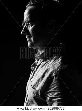 Caucasian man stressed regret suffering nervous