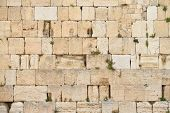 The Western wall or Wailing wall is the holiest place to Judaism in the old city of Jerusalem Israel. poster
