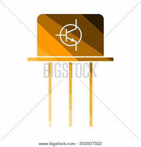 Transistor Icon. Flat Color Ladder Design. Vector Illustration.