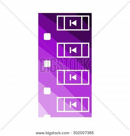 Diode Smd Component Tape Icon. Flat Color Ladder Design. Vector Illustration.