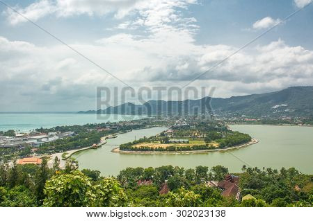 Koh Samui Chaweng Beach And Lake, View From Viewpoint