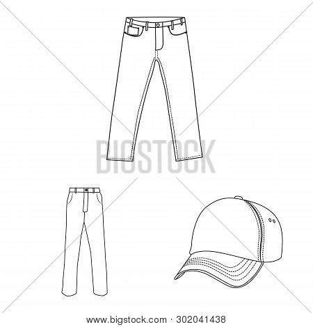 Vector Illustration Of Man And Clothing Icon. Set Of Man And Wear Stock Vector Illustration.