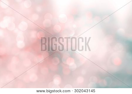 Abstract Pink Bokeh Background. Colorful Christmas Glittering Background. Abstract Christmas Backgro