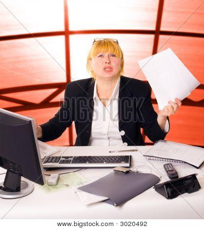 Anger Businesswoman
