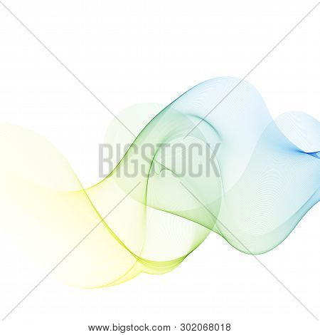 Abstract Wave Design Element Color Wave Background
