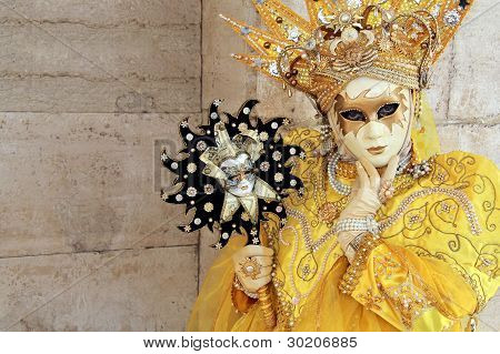 A Yellow Crowned Mask