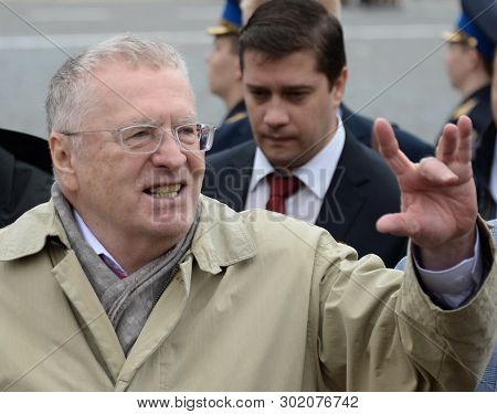 Moscow, Russia - May 9, 2019: Leader Of The Liberal Democratic Party Of Russia Vladimir Zhirinovsky