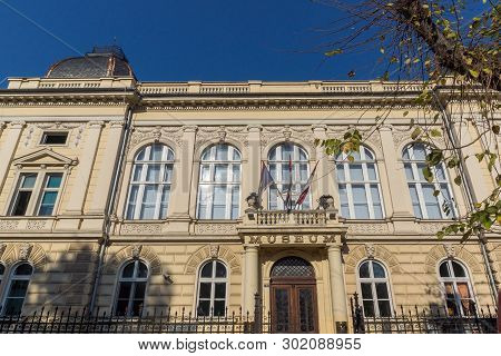 Novi Sad, Vojvodina, Serbia - November 11, 2018: Building Of Museum Of Vojvodina At The Center Of Th