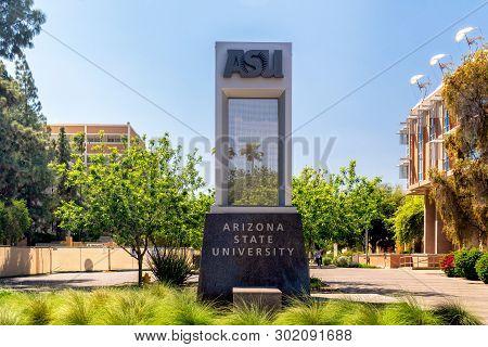 Entrance Sign To Arizona State University