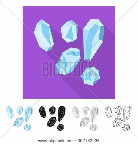 Isolated Object Of Granules And Salty Sign. Set Of Granules And Grains  Stock Symbol For Web.