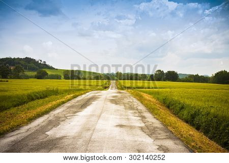 Tipical Country Road In Tuscany Countryside Called