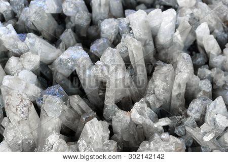 Background - Druse Of Natural Quartz Crystals