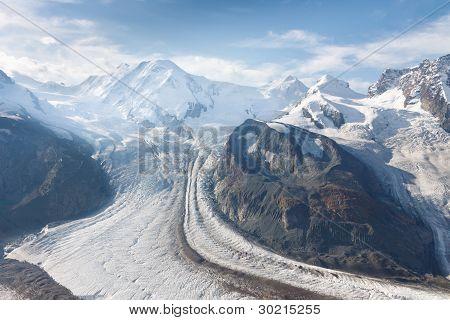 Gorner Glacier (gornergletscher), Swiss Alps