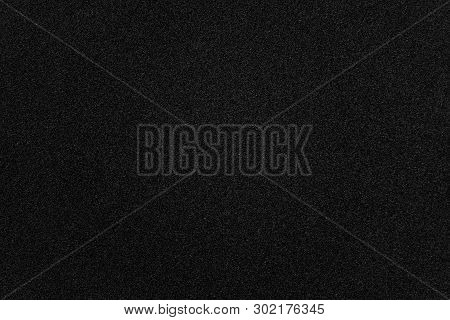 Abstract Black Grainy Paper Texture Background Or Backdrop. Empty Asphalt Road Surface For Decorativ