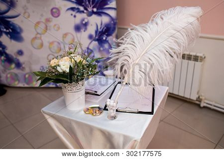 Attributes Of The Wedding Ceremony. Wedding Accessories For The Ceremony