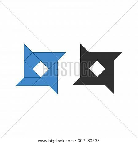 Star Shape Tangram. Traditional Chinese Dissection Puzzle, Seven Tiling Pieces - Geometric Shapes: T