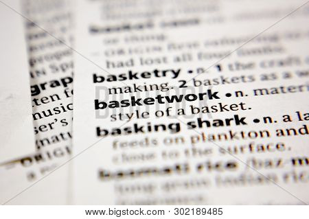 Word Or Phrase Basketwork In A Dictionary.