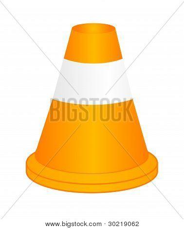 Vector Orange Highway Traffic Cone