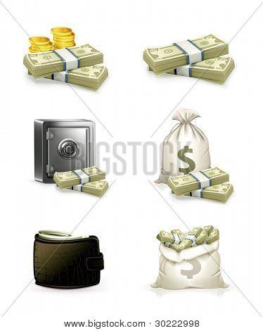 Paper money, vector set