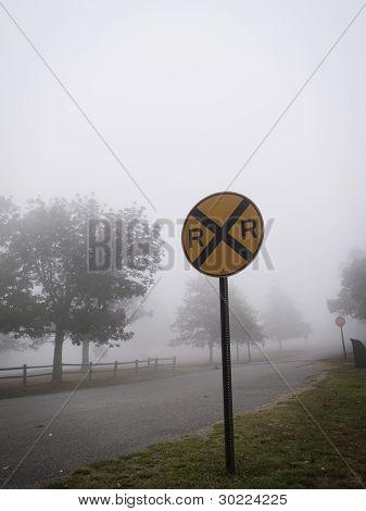 Rural Railroad Crossing.