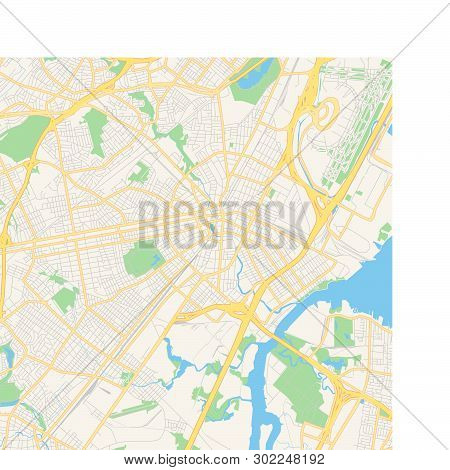 graphic relating to Printable Map of New Jersey identified as Vacant Vector Map Vector Image (Free of charge Demo) Bigstock