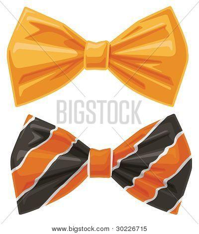 Vector Orange Bow Ties