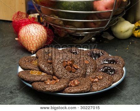 Stock Photo Of A Plate Of Freshly Baked Cookies