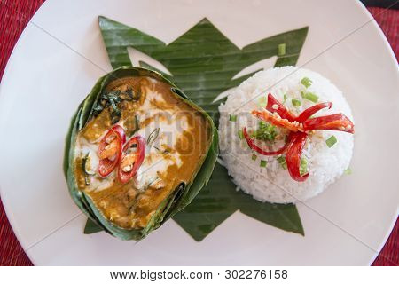 A Traditional Khmer Curry Of Amok At And Restaurant In The Old Town In The City Of Siem Reap In Nort