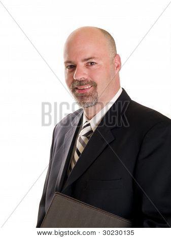 Fashion - Men - Businessman Holding Notebook