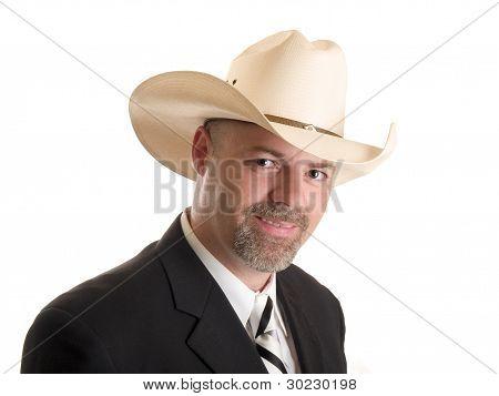 Cowboy uomo d'affari