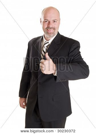happy Businessman Thumbs up